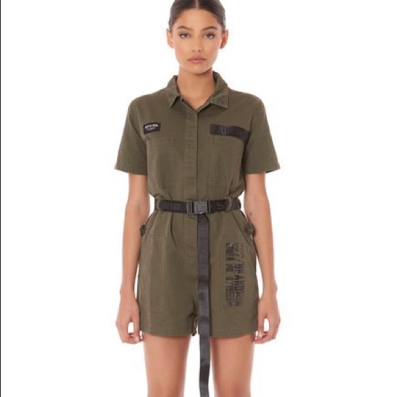 5207822f6 lf stores Pants - LF Stores || Cargo Buckle Belt Romper